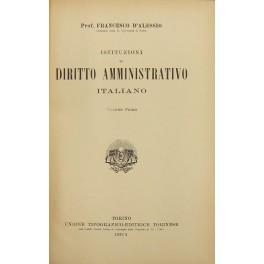 Istituzioni di diritto amministrativo italiano: D'Alessio Francesco