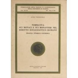 Normativa sui monaci e sui monasteri nel: Vannicelli Luigi