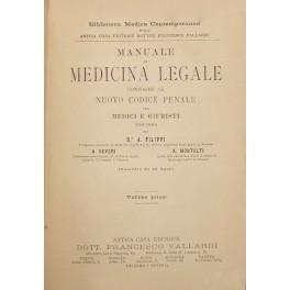Manuale di medicina legale conforme al nuovo: Filippi Angelo -