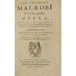 Aur. Theodosii Macrobi . Opera. Ioh. Isacius: Macrobius Ambrosius Aurelius