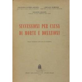 Successioni per causa di morte e donazioni: Azzariti Francesco Saverio