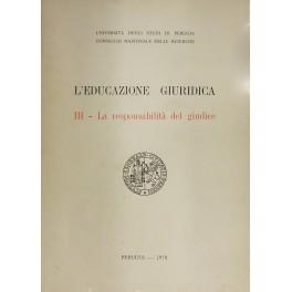 L'educazione giuridica. A cura di Alessandro Giuliani: AA.VV.