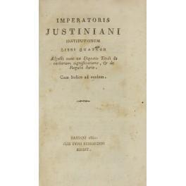 Imperatoris Justiniani Institutionum Libri quatuor. Adjecti sunt: Iustinianus Augustus