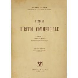 Lezioni di diritto commerciale. I contratti. Vendita.: Greco Paolo