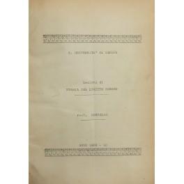Lezioni di storia del diritto romano. Anno: Rosselli Adolfo Francesco