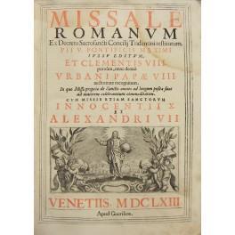 Missale Romanum ex Decreto Sacrosancti Concilij Tridentini: n.d.