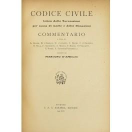 Codice civile. Libro delle successioni per causa: D'Amelio Mariano (a