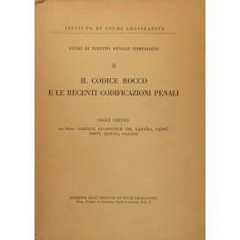 Il Codice Rocco e le recenti codificazioni: AA.VV.