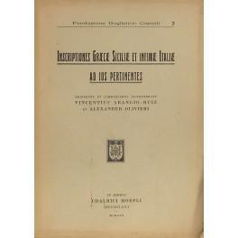 Inscriptiones graecae Siciliae et infimae Italiae ad: Arangio Ruiz Vincenzo