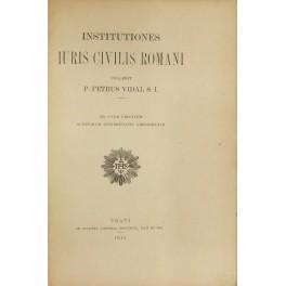 Institutiones iuris civilis romani. Ad usum privatum: Vidal Pedro
