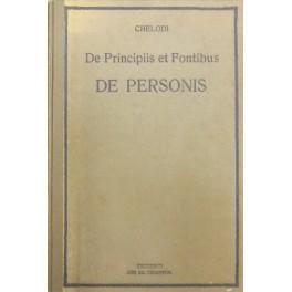 Ius de personis iuxta codicem iuris canonici: Chelodi Giovanni