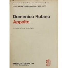 Dell'appalto. Art. 1655-1677: Rubino Domenico