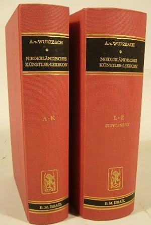 Niederländisches Künstler-Lexikon auf Grund archivalischer Forschungen bearbeitete.: WURZBACH, Alfred von.
