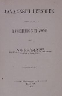 Javaansch leesboek behoorende bij de woordafleiding in: WALBEEHM, A.H.J.G.