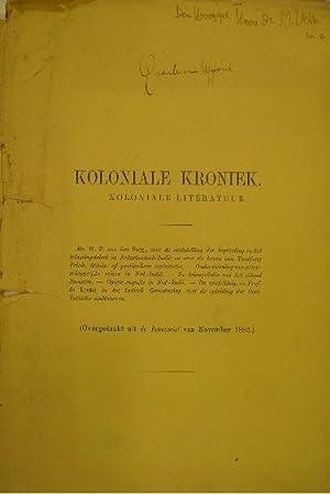 Koloniale kroniek. Koloniale literatuur.: QUARLES VAN UFFORD,