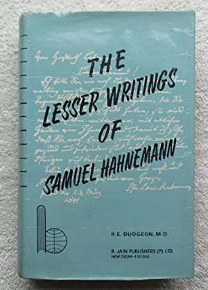 The Lesser Writings of Samuel Hahnemann: Hahnemann Samuel (ed.