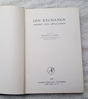 Ion Exchange Theory and Application: Nachod Frederick C.