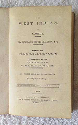 The West Indian - A Comedy: Cumberland Richard