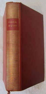 L'Oeuvre De Pascal: Pascal Blaise (ed. Jacques Chevalier)