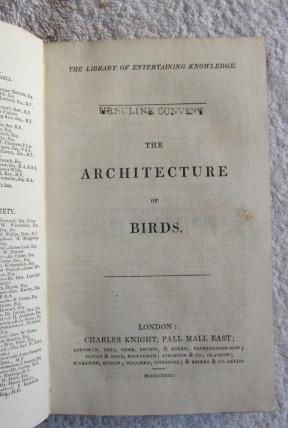 The Architecture of Birds: Rennie J.
