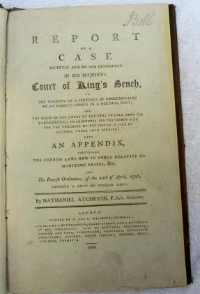 Report of a Case recently Argued and Determined in His Majesty's Court of King's Bench on ...