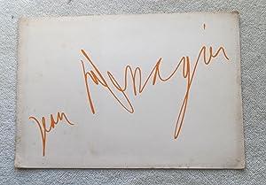 Exhibition Souvenir from Galerie Schoeller Jr,: Messagier Jean (introductory