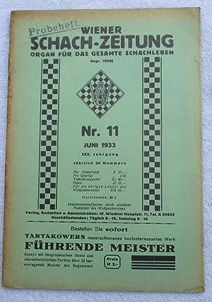 Wiener Schach-Zeitung Juni 1933: Magazine