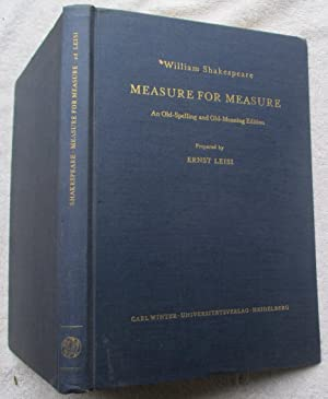 Measure for Measure - An Old-Spelling and: Shakespeare William (