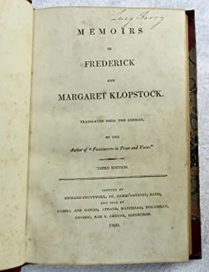 """Memoirs of Frederick and Margaret Klopstock. Translated from the German by the author of """"..."""
