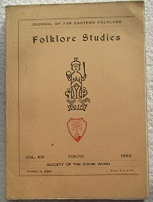Folklore Studies: Journal of Far Eastern Folklore,: Periodical