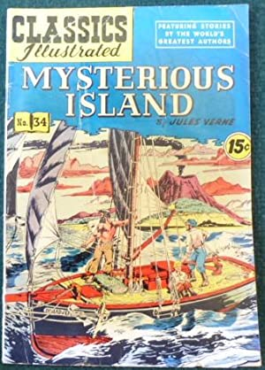 CLASSICS ILLUSTRATED NO. 34, MYSTERIOUS ISLAND: VERNE, JULES.
