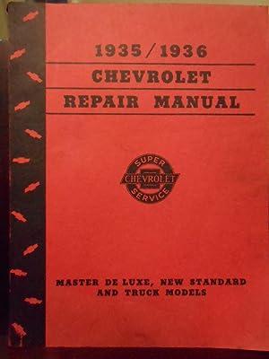 1935/1936 Chevrolet Repair Manual Master De Luxe,: General Motors Staff
