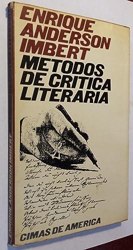 Metodos de Critica Literaria.: Anderson Imbert, Enrique.