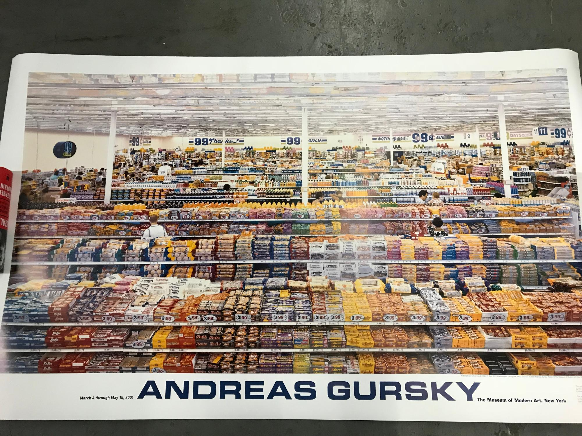Andreas Gursky 99 CENT Poster MOMA Original
