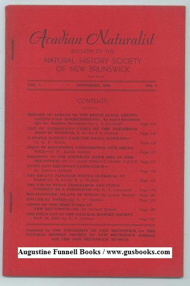 ACADIAN NATURALIST, Bulletin of the Natural