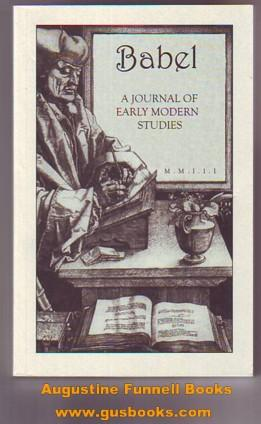 BABEL, A Journal of Early Modern Studies, Volume II (signed)