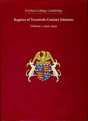 Register of Twentieth-Century Johnians : Volume 1, 1900-1949