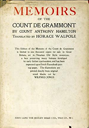 Memoirs of the Count De Grammont (Limited: Hamilton, Count Anthony
