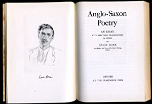 Anglo-Saxon Poetry : An Essay with specimen translations in Verse