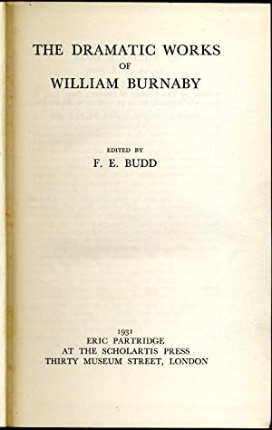 The Dramatic Works of William Burnaby (limited edition)