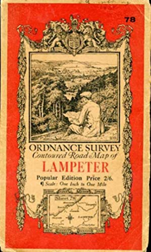 Ordnance Survey Contoured Road Map of Lampeter : Sheet 78 : One-inch Popular Edition (cloth)