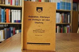 Geschichtliche Mitteilungen von Geislingen und seiner Umgebung. 4. Heft.: Schöllkopf, Chr.: