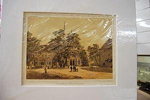 Kloster Maulbronn. Lithographie nach Robert Stieler. Blick auf die Klosterkirche.