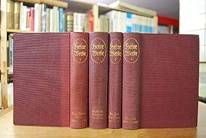Gesammelte Werke in vier Bänden (komplett). Herausgegeben von Hartwig Jeß. Mit vier Bildnissen des ...