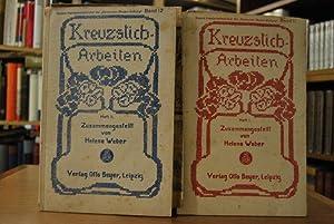 """Kreuzstich-Arbeiten Hefte 1 und 2. Beyers Handarbeitsbücher der """"Deutschen Moden-Zeitung"""" ..."""