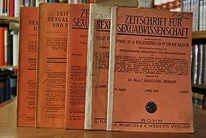 Zeitschrift für Sexualwissenschaft. Konvolut von 5 Heften: IX. Band April 1922 1. Heft, IX. Band ...