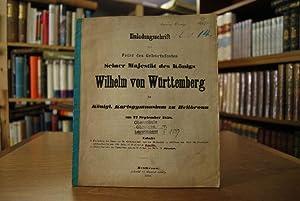 Einladungsschrift zur Feier des Geburtsfestes Seiner Majestät des Königs Wilhelm von Württemberg im...