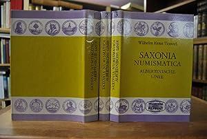 Saxonia Numismatica oder Medaillen-Cabinet von Gedächtnismünzen und: Tentzel, Wilhelm Ernst: