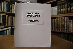 Fritz Klemm Bilder von 1951 bis 1970.