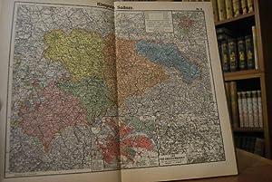 Allgemeiner Hand-Atlas über sämtliche Teile der Erde. 48 Kartenblätter mit 184 Karten, Diagrammen, ...